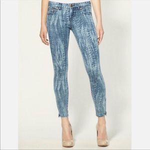 Free People Ankle Zip Light Wash Skinny Jean